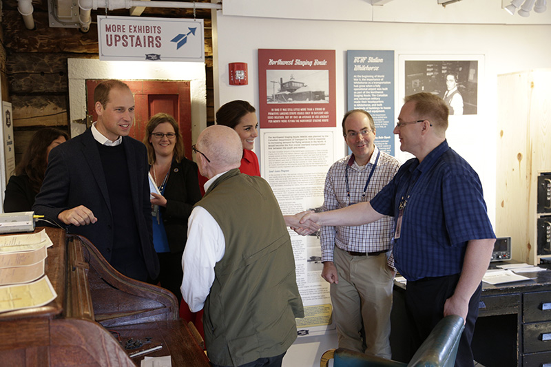Image of Will and Kate at MacBride Museum - Kate shaking the hand of our very own Seamus Venasse, Telegrah to Tweet creator.